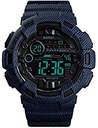 Kids Waterproof Sport Watch, Boys Girls Digital Military Sports Outdoor Watches with Alarm Stopwatch LED Casual Camouflage Wrist Watch for Kids