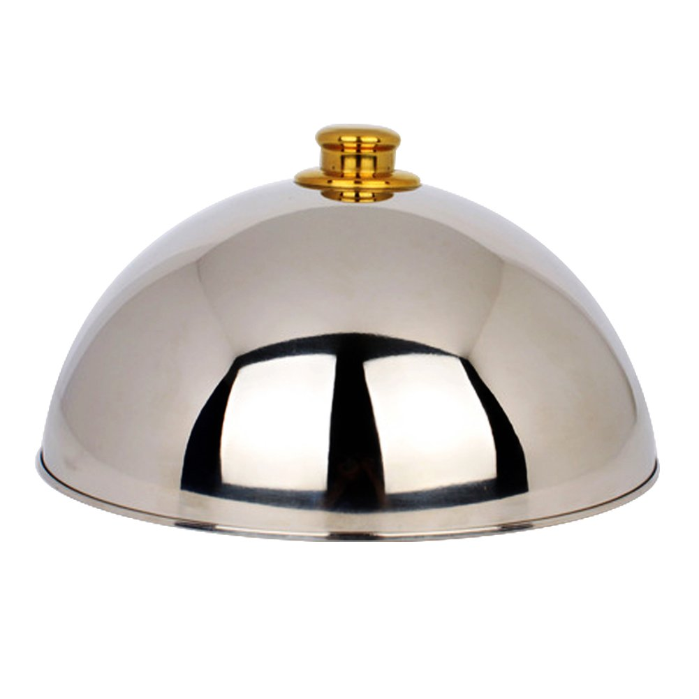 Stainless Steel Pot Cover-Cheese Melting Dome and Steaming Cover,Steak Cover,Iron Plate Spherical Dish Food Cover-Best for Use in Flat Top Griddle Grill Cooking Indoor or Outdoor by Warmsheep