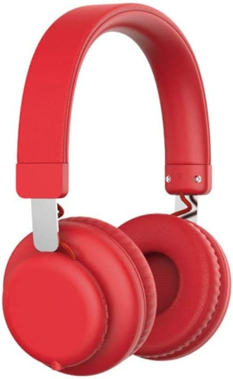 FXMINLHY Fashion Pink Wireless Bluetooth Headphones Cute Headset with Microphone Bluetooth On Ear Headphone for Women Girl Kids New Year Gift,Red