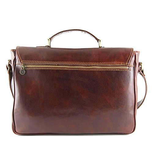 Tuscany Leather Padova Exklusive Leder - Notebooktasche Dunkelbraun Dunkelbraun