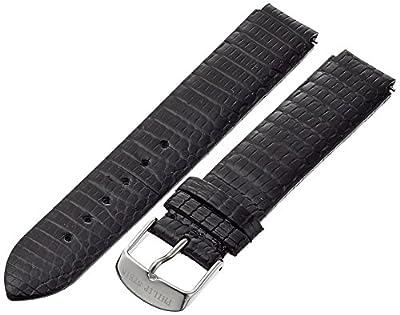 Philip Stein 1-ZB 18mm Leather Lizard Black Watch Strap from Philip Stein