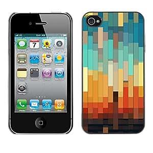 [Neutron-Star] Snap-on Series Teléfono Carcasa Funda Case Caso para iPhone 4 / 4S [3D del trullo en colores pastel Naranja Marrón]