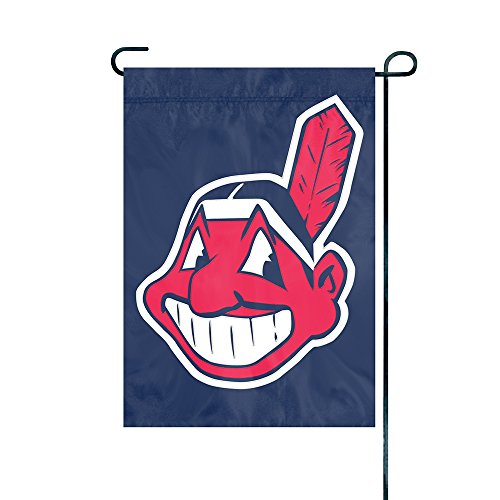 - The Party Animal MLB Cleveland Indians MLB Garden Flag, Blue, 18