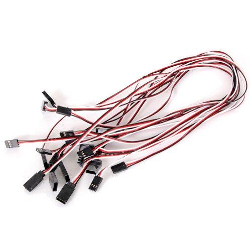10pcs 520mm Fils Câbles d'Extension Rallonges pour Servo