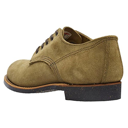 Red Wing Hombres Merchant Oxford 8043 Zapatos De Gamuza Verde Oliva