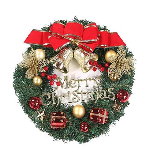 ZOELOVE Liteness Corona De Navidad para Puerta Coronas Navideñas Decoración De Navidad Árbol De Navidad Colgante Adornos Fine Hay Varios Estilos Disponibles (A, 1PC)