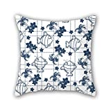 NICEPLW 18 x 18 inches / 45 by 45 cm fish throw cushion covers ,each side ornament and gift to deck chair,family,wedding,bf,kids boys,father