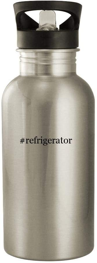 #refrigerator - 20oz Stainless Steel Water Bottle, Silver