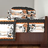 Roostery Halloween 3pc Sheet Set Vintage Halloween Placemats by Heidikenney Twin Sheet Set made with