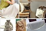 LOVOUS 100% Nature Linen Needlework Fabric, Plain