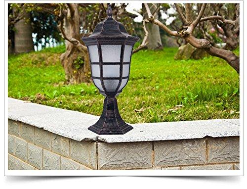 Zll recinzione luci lampade da parete europeo ville e giardino