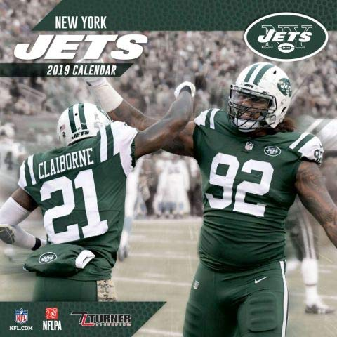 2019 New York JETS NFL Sports TEAM Wall Calendar