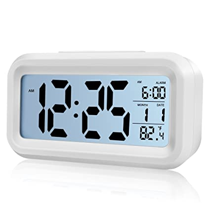 xuzou Digital alarma reloj pilas alarma relojes bedside- Temperatura Display- Snooze y grande Display