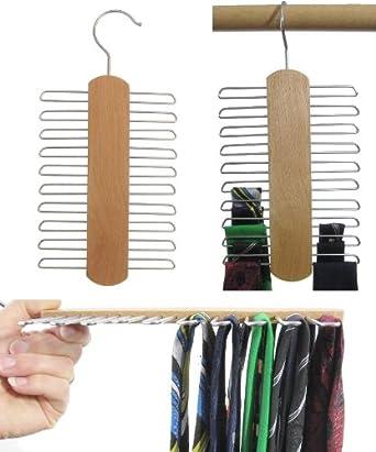 Cintre PorteCravates Bois De Hêtre Cravates Pièces - Porte cravate