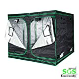 Quictent 96X96X78-Inch Mylar Hydroponic Grow Tent with PVC View Window for Indoor Plant Growing