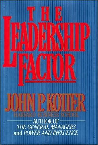 The Leadership Factor: John P  Kotter: 9780029183311: Amazon