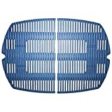 Music City Metals 63802 Matte Cast Iron Cooking Grid Replacement for Select Weber Gas Grill Models, Set of 2