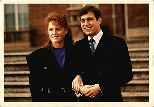 HRH Prince Andrew and Miss Sarah Ferguson Royalty Original Vintage Postcard from CardCow Vintage Postcards