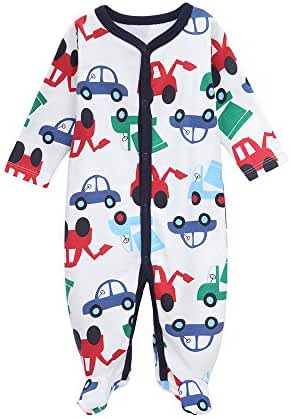 Babe Maps Unisex Babys Footed Sleeper Pajamas Long Sleeved