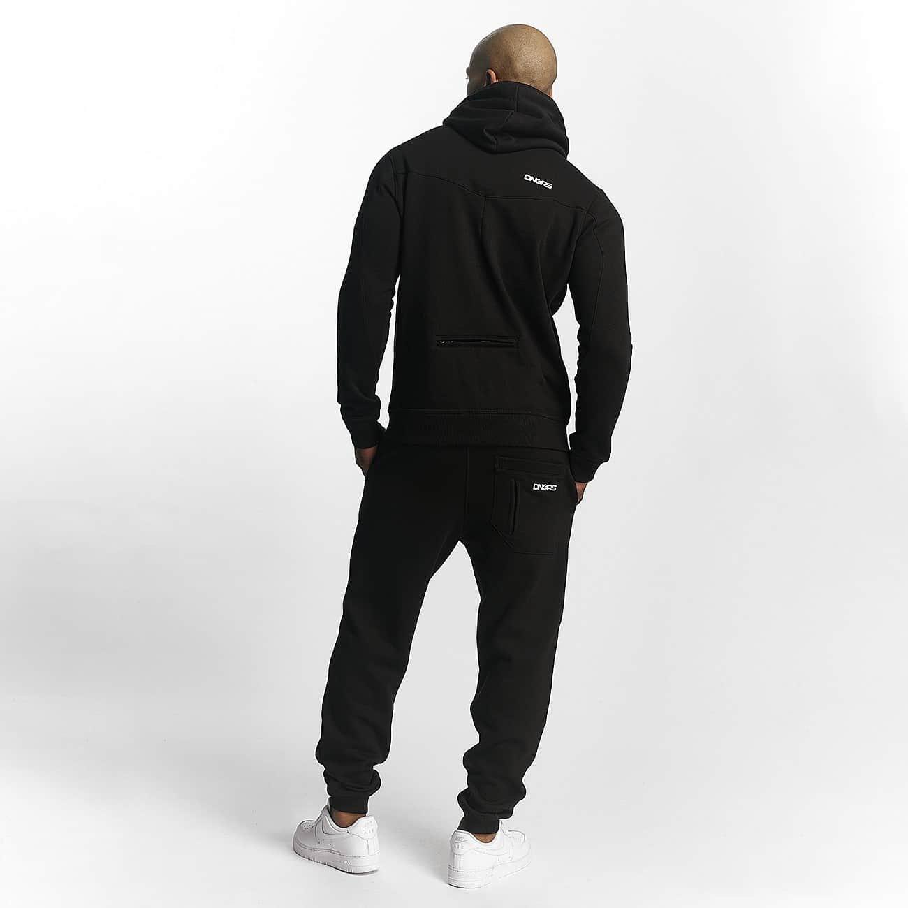 Dangerous DNGRS Herren Jogginganzug Trainingsanzug Basic Basic Trainingsanzug Zweiteiler schwarz f1dc12