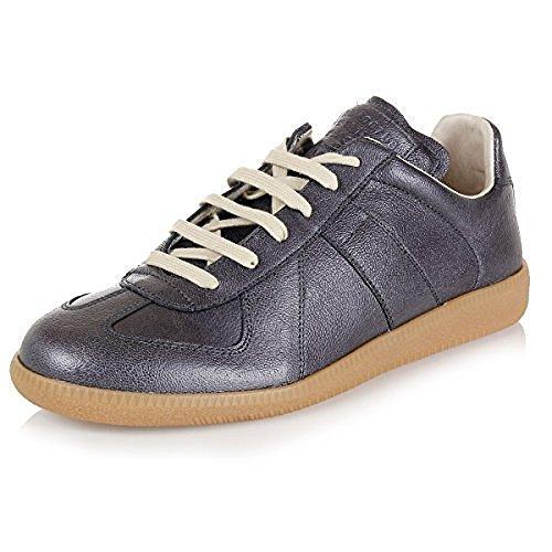 Martin Margiela Maison Mens Low Top Sneakers S57WS0055 Color 900 (EU 43.5/US 10.5, Metallic - Martin Maison Margiela