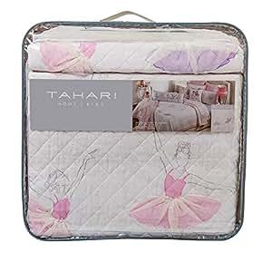 Amazon.com: Tahari - Juego de edredón de algodón con faldas ...