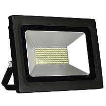 SOLLA 60W Super Bright LED Flood Light Outdoor Security Light, 4500lm, 288LEDs,Warm White, 3500K, Waterproof,Landscape Spotlight