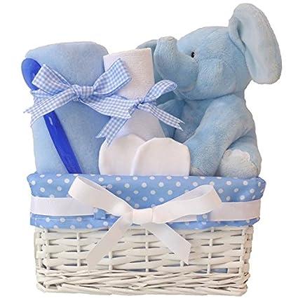 My First Teddy Elephant - Cesta para bebé, cesta de ducha para bebé ...