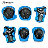 Releeder Multi Sports Safety Protection Kids Elbow Knee Wrist Protective Gear Pads Safety Gear Pad Guard for Cycling Roller Skateboard Hoverboard Soft and Comfortable