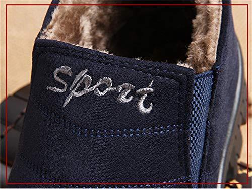 Eu39 Stivali Rotonda Unita Stivaletti Ginnastica Tinta Testa 1 Uomo Scarpe Da Caloroso Elegante Neve Piatto Juqilu Boots 45 Retro Sportive Basse Caviglia EFqpHx