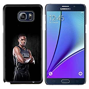 Miami Jugador de Baloncesto- Metal de aluminio y de plástico duro Caja del teléfono - Negro - Samsung Galaxy Note5 / N920