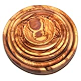 Olive Wood Handcrafted Bowls, Set of 6 sizes ( 2.8 - 7.2 Inches in diameter ) - Asfour Outlet Trademark