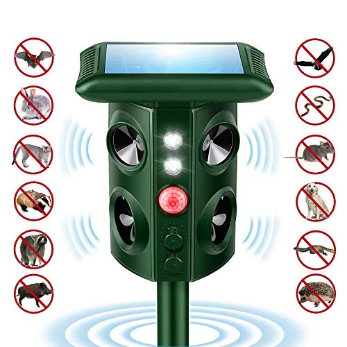 (Mole Repellent, Solar Powered Waterproof Animal Repellent with Ultrasonic Wave, Humane Rodent Repeller for Dog, Cat, Mosquito, Gopher, Vole, Bird, Squirrel, Rabbits etc. )