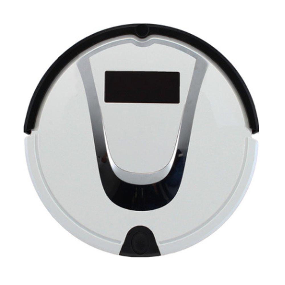 HANSHUMY ロボット型掃除機 知能 家庭用 ダブルメインブラシ600回転速度 四つの清掃モード WET&DRY掃除 2.4G赤外線コントローラ バーチャルウォール 落下防止 衝突防止 自動充電 定時予約 1200PA吸引力 掃除機 掃除機ロボット ロボット型クリーナー ホワイト B07BMM1TXQ ホワイト ホワイト
