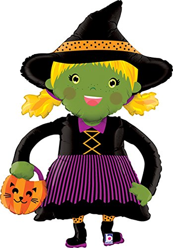 45 Inch Halloween Linky Witch Balloon - 5 Pieces ()