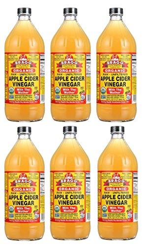 Bragg Usda Organic Raw Apple Cider Vinegar,32 OZ, 6 Pack by Bragg