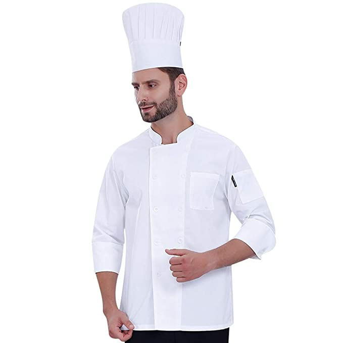 Dooxii Unisex Donna Uomo Autunno Manica Lunga Giacca da Chef Professionale  Torta di Cottura Mensa Hotel Uniformi Divise da Cuoco  Amazon.it   Abbigliamento 46200e05ed61