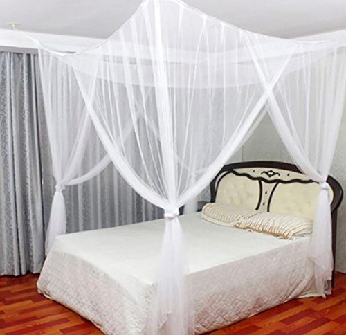 Just relax four corner post elegant mosquito net bed for Elegant canopy bedroom sets