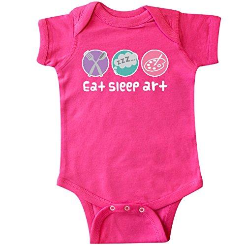 Artist Baby Onesie - inktastic Artist Painting Eat Sleep Art Infant Creeper Newborn Hot Pink