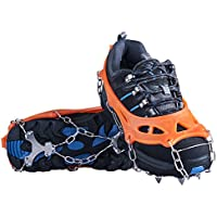 OuterStar Traction Cleats Ice Snow Grips Anti Slip 12 Stainless Steel Spikes Crampons for Footwear