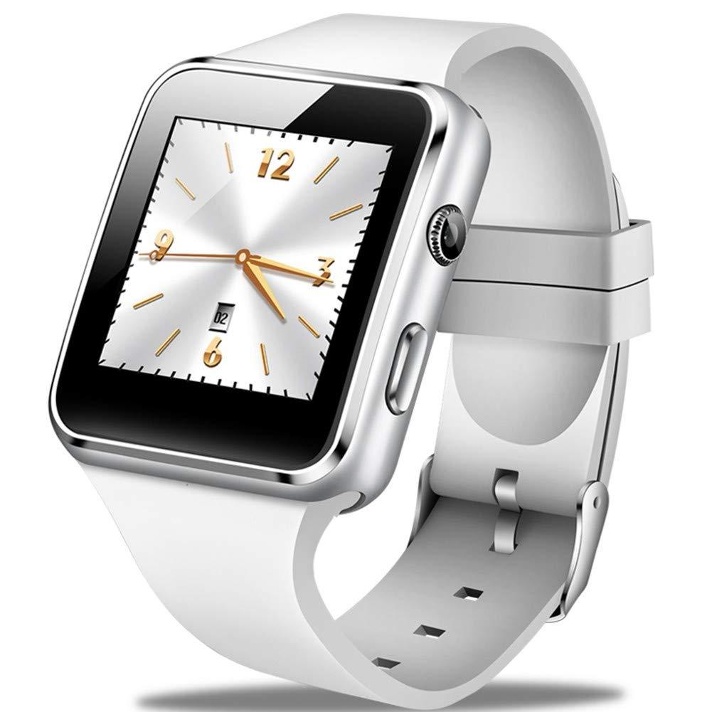 GBVFCDRT Smartwatch Männer Lässige Mode Silikonband Smart Watch Frauen Männer Sport Schrittzähler LED Stoppuhr Unterstützung SIM Call Wearable Tech