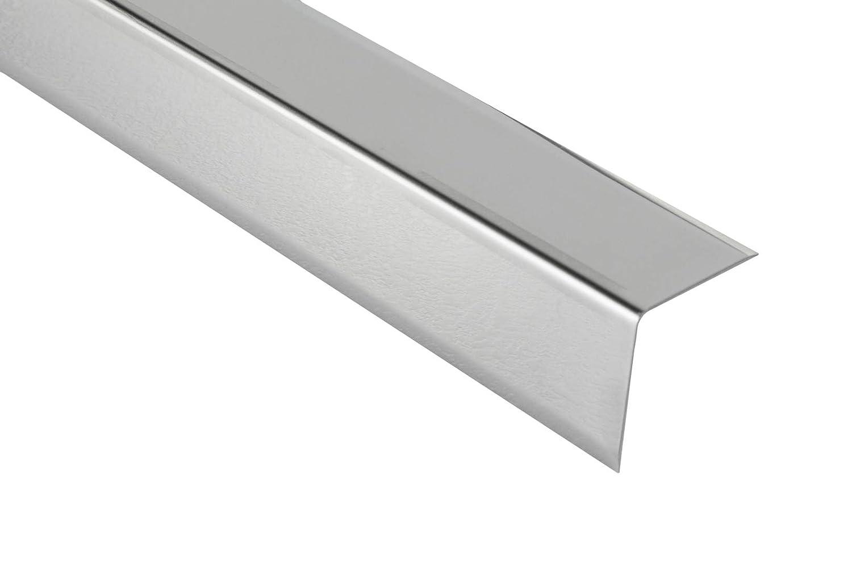 2 m/ètres acier inox eckschutzprofil coin ext/érieur fliesenleiste Baguette dangle ACIER INOX BRILLANT SP 16mm hex200