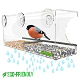 Best Feeder With Perches - Yardly Noticed Window Bird Feeder with Removable Tray Review