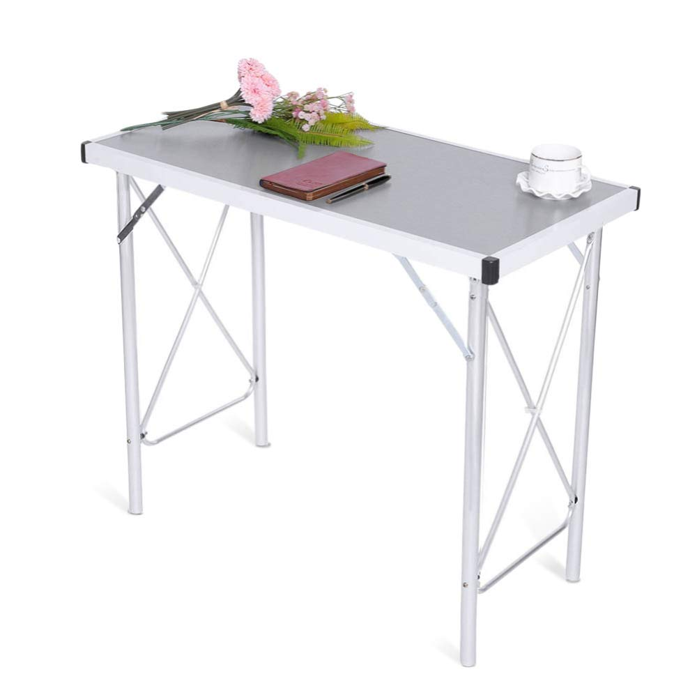 Aluminum Alloy Portable Folding Camping Table Laptop Desk for Picnic/Working by DOVOK (Image #7)