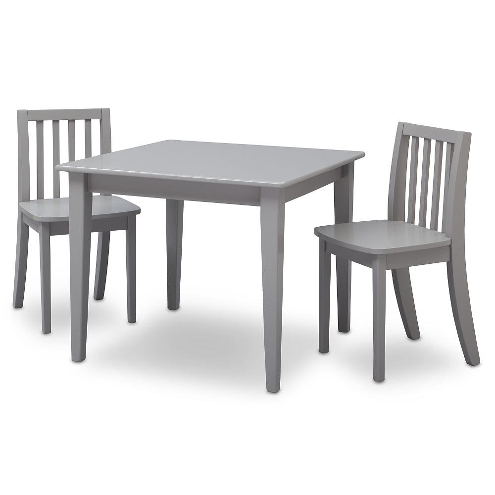 Amazon.com: Brand New Grey Next Steps Table and 2 Chairs Set ...