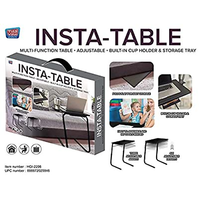 Grand Innovation InstaTable with Built-in Cup Holder/Storage Tray: Kitchen & Dining