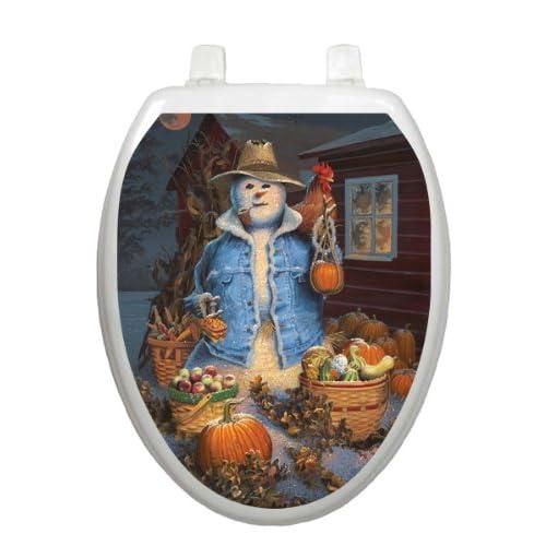 85%OFF Autumn Gathering Toilet Tattoo TT-1073-R Round Scarecrow Halloween