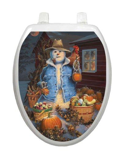 Autumn Gathering Toilet Tattoo TT-1073-R Round Scarecrow
