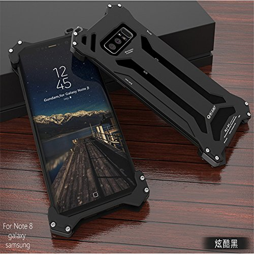 Samsung Galaxy Note 8 Case, LWGON Aluminum Metal Shock Proof Frame Bumper Double Color Oxidation Aluminum Metal Case Cover for Samsung Galaxy Note 8 (Gon - Proof Frames