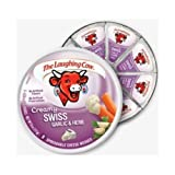 The Laughing Cow Creamy Garlic and Herb Swiss Cheese Wedge, 6 Ounce - 12 per case.